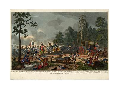 The Total Defeat and Flight of the French Army at the Battle of Waterloo Commanded by Napoleon Bona--Giclee Print