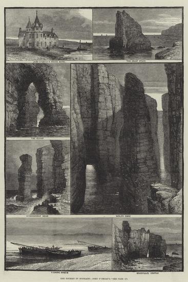 The Tourist in Scotland, John O'Groat's-Samuel Read-Giclee Print
