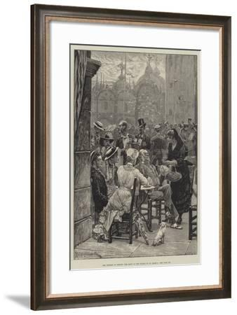 The Tourist in Venice, the Band on the Piazza of St Mark'S-Richard Caton Woodville II-Framed Giclee Print