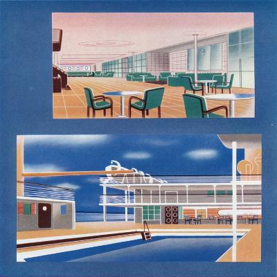 The Tourist Lounge and Swimming Bath of the Rms Orion, 1935--Giclee Print