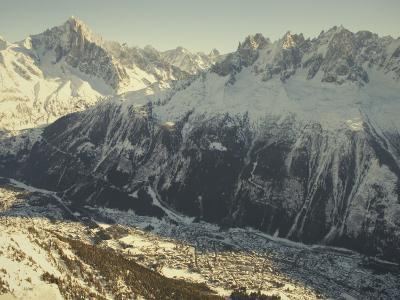 The Tourist Resort of Chamonix Sits at the Foot of the French Alps-Nicole Duplaix-Photographic Print