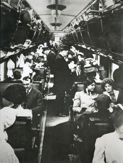 The Tourist Sleeper Car on 'The Denver Limited' of the Chicago--Photographic Print