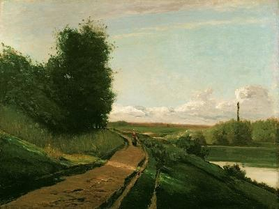 The Tow Path at Bougival, 1864-Camille Pissarro-Giclee Print
