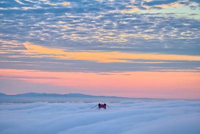 The Tower Above, Sunrise at Golden Gate Bridge, San Francisco-Vincent James-Photographic Print
