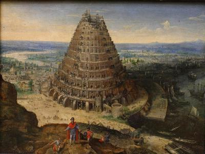 The Tower of Babel, 1594-Lucas van Valckenborch-Giclee Print