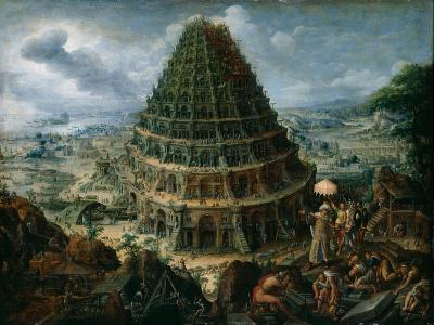 The Tower of Babel, 1595-Marten van Valckenborch-Giclee Print