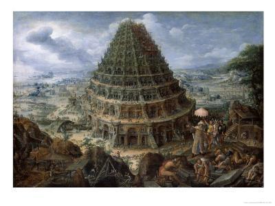 The Tower of Babel-Marten van Valckenborch-Giclee Print