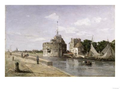 The Tower of Francis I at Le Havre, 1854-Eug?ne Boudin-Giclee Print