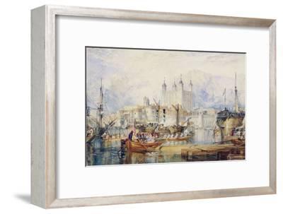 The Tower of London, circa 1825-J^ M^ W^ Turner-Framed Giclee Print