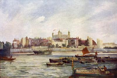 The Tower of London from across the Thames-Andre & Sleigh-Giclee Print