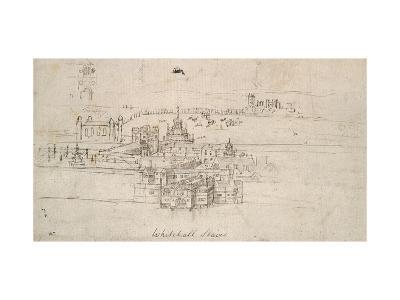 The Tower of London (Pen and Brown Ink over Faint Indications in Black Chalk)-Anthonis van den Wyngaerde-Giclee Print