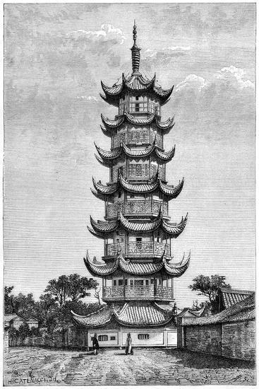 The Tower of Long-Hua, Shanghai, China, 1895--Giclee Print