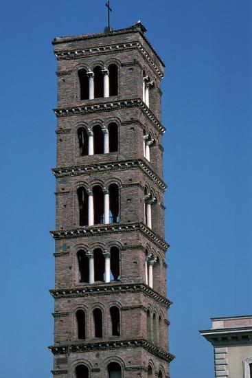 The Tower of Santa Maria in Rome, 12th Century-CM Dixon-Photographic Print