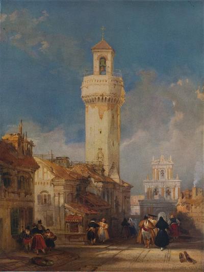 The Tower of the Church of San Nicolás de la Villa, Córdoba, 1834-David Roberts-Giclee Print