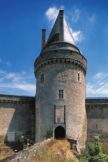 The Tower of the Drawbridge, Chateau of Blain or Groulais, 13th-16th Century, Brittany, France--Photographic Print