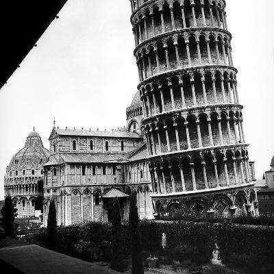 The Tower, One Arm of the Transept of the Cathedral and the Baptistry of Pisa-Pietro Ronchetti-Photographic Print