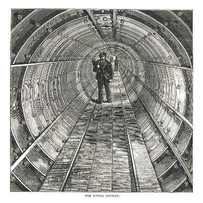 The Tower Tunnel, 1878-Walter Thornbury-Giclee Print