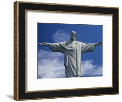 The Towering Statue of Christ the Redeemer, Or Christo Redentor-Richard Nowitz-Framed Photographic Print