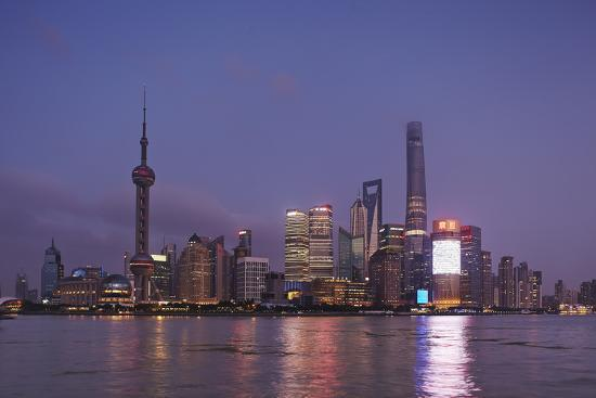 The Towers of Pudong District across the Huangpu River from the Bund, Shanghai, China-Nigel Hicks-Photographic Print