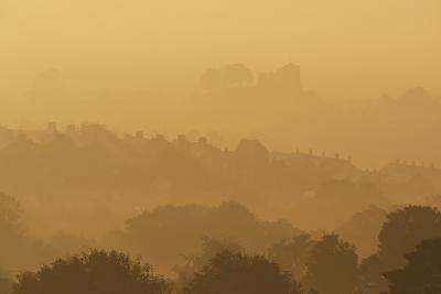 The Town and Castle of Lewes Early on a Misty, Autumnal Morning, East Sussex, Uk-Design Pics Inc-Photographic Print