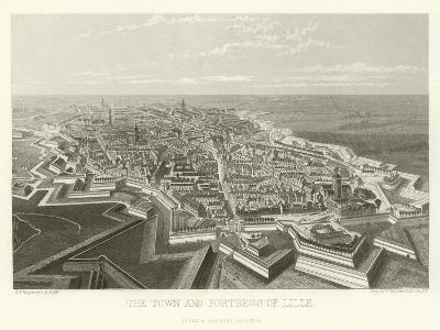The Town and Fortress of Lille-Alphonse Marie de Neuville-Giclee Print