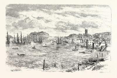 The Town and Harbour of Falmouth, UK--Giclee Print