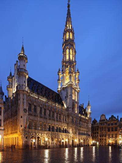 The Town Hall (French: Hôtel De Ville), of City of Brussels Is a Gothic Building from Middle Ages L-David Bank-Photographic Print