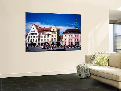 The Town Hall Square of Tallinn is Dominated by the Only Surviving Gothic Town Hall in N. Europe-Craig Pershouse-Wall Mural