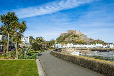 The Town of Mont Orgueil and its Castle, Jersey, Channel Islands, United Kingdom-Michael Runkel-Photographic Print