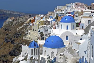 The Town of Oia on the Island of Santorini, Greece-David Noyes-Photographic Print