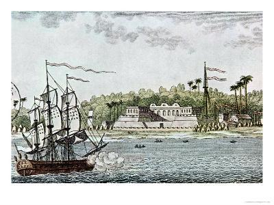 The Town of St. Louis, Senegal, from L'Afrique, c.1814--Giclee Print