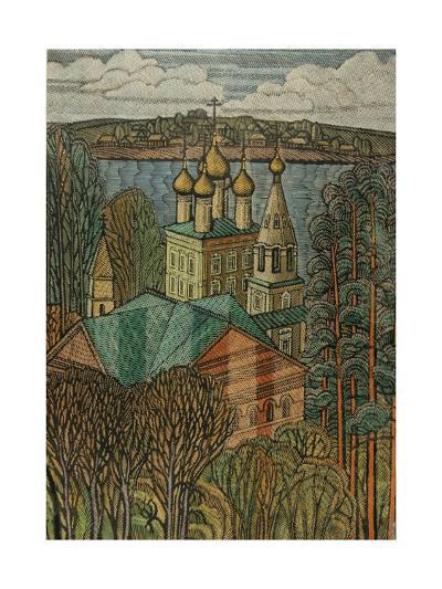 The Town of Uglich on the Volga, 1980-Masabikh Akhunov-Giclee Print