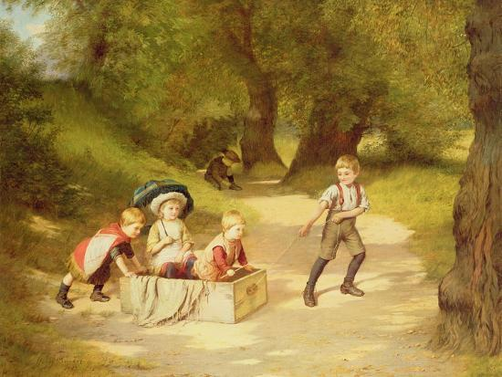 The Toy Carriage, 1887-Harry Brooker-Giclee Print