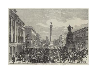 The Trades Unions Reform Demonstration on Monday Last, Scene in Waterloo-Place--Giclee Print