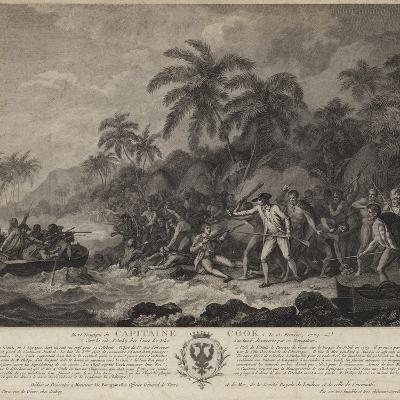 The Tragic Death of Captain Cook-John Webber-Giclee Print