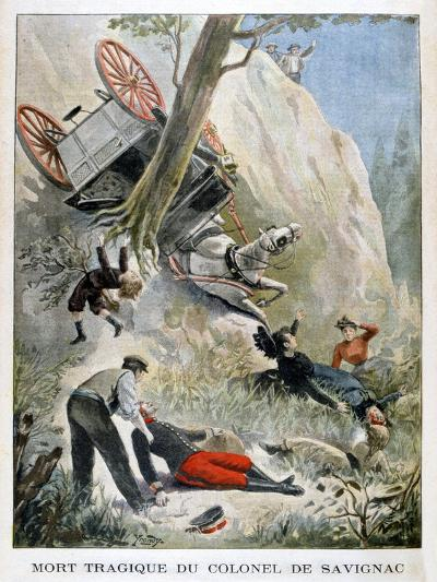 The Tragic Death of Colonel De Savignac, 1901--Giclee Print