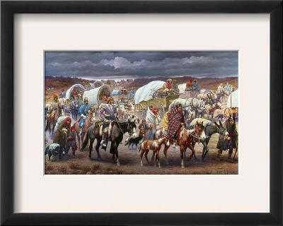 The Trail Of Tears, 1838-Robert Lindneux-Framed Giclee Print