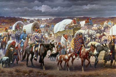 The Trail Of Tears, 1838-Robert Lindneux-Giclee Print