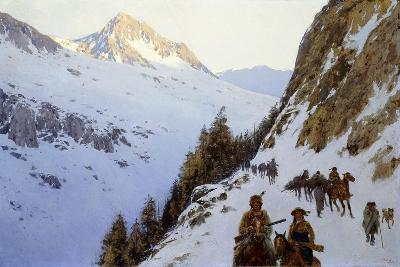 The Trail over the Pass, 1910-Henry Francois Farny-Giclee Print