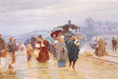 The Train Has Arrived, 1894-Nikolaj Alekseevich Kasatkin-Giclee Print