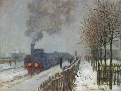 The Train in the Snow (Or: the Locomotive) 1875-Claude Monet-Giclee Print