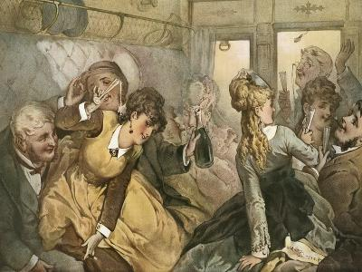 The Train of Pleasure for Madame Tellier's House--Giclee Print
