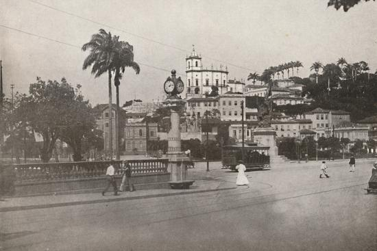 'The Tram passing the Praca da Gloria', 1914-Unknown-Photographic Print
