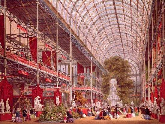 The Transept at the Great Industrial Exhibition of 1851-Joseph Nash-Giclee Print