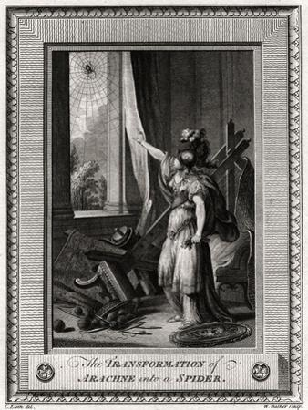 The Transformation of Arachne into a Spider, 1775 by W Walker