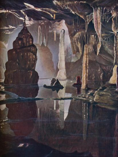 'The 'Transformation Scene' in Cox's Cave at Cheddar', c1935-Unknown-Giclee Print