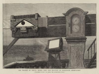 The Transit of Venus, Model Used for Practice at Greenwich Observatory--Giclee Print