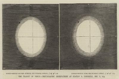 The Transit of Venus, Photographic Observations at Station B, Honolulu, 8 December 1874--Giclee Print