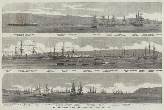 The Transport Fleet Embarking the Troops, at Varna--Giclee Print