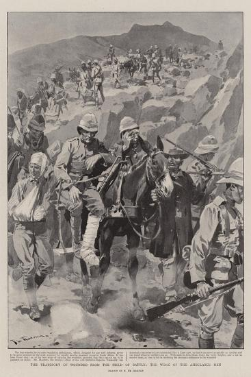 The Transport of Wounded from the Field of Battle, the Work of the Ambulance Men-Frederic De Haenen-Giclee Print